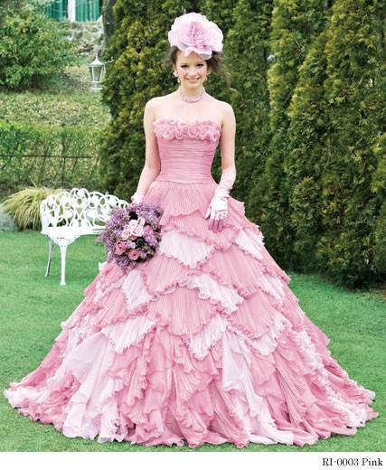 Розовое свадьба платье фото