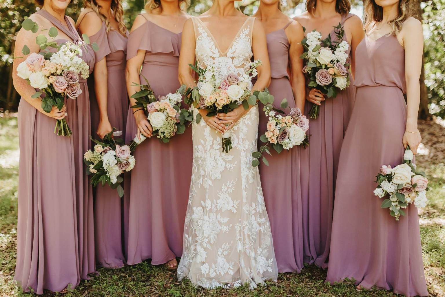 Long Bridesmaids Dresses (photo by twopairphotography)
