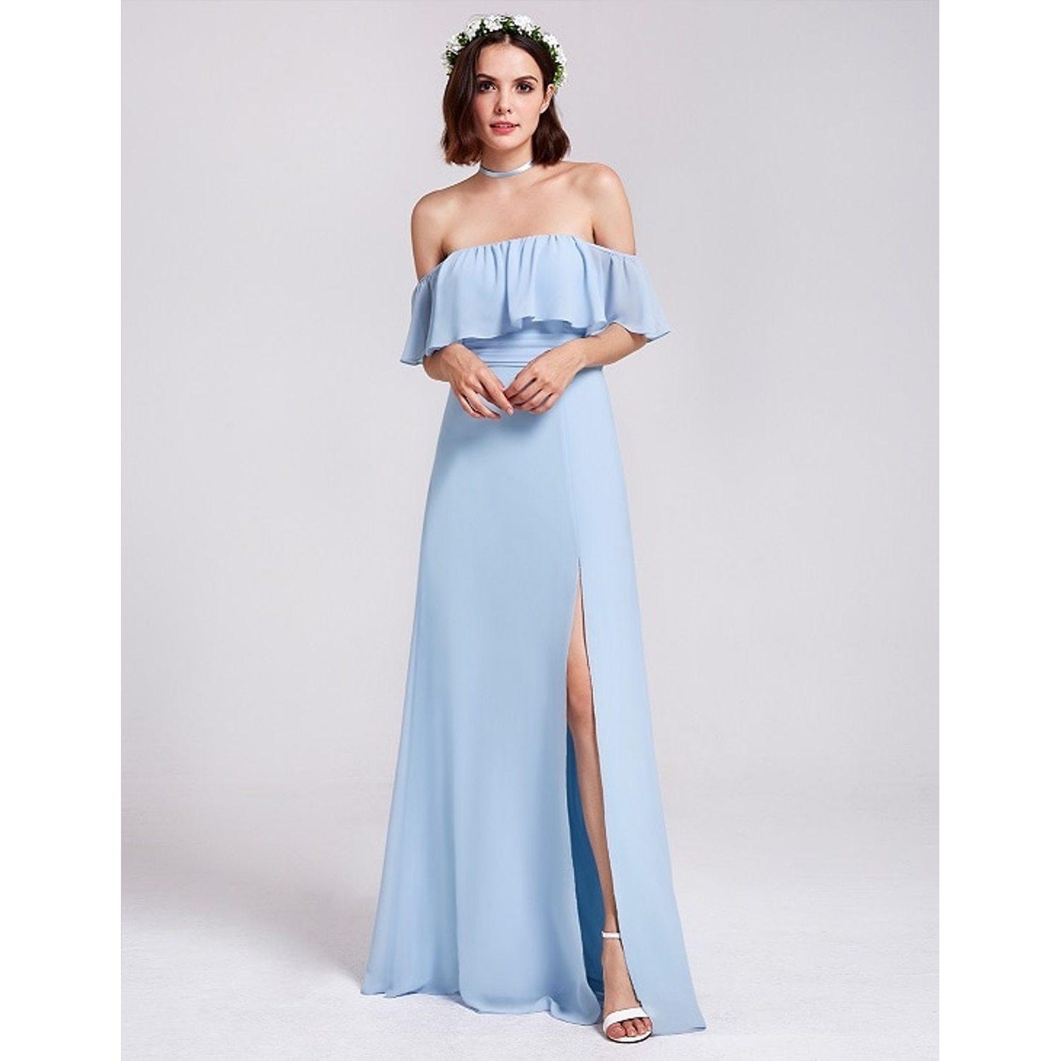 Bridesmaid dress with a slit